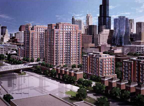 Original plans for Kinzie Station Condominiums